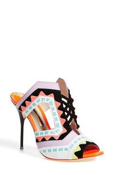 SOPHIA WEBSTER 'Riko' Peep Toe Leather Mule (Women) available at #Nordstrom