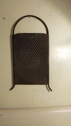 Large Primitive Antique Punched Tin Grater Old Kitchen Tool c1800s