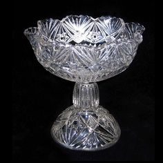 Cambridge Glass Ladder to the Stars Compote 2626 1905 by charmings, $27.00