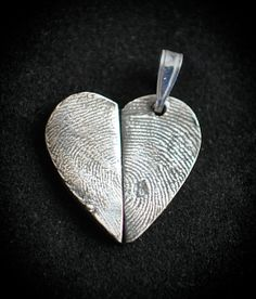 Silver Jewelry A couple's heart with two fingerprints.  Only $65!  Much cheaper then the competition.