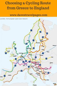 When planning a bicycle touring trip in Europe, the EuroVelo routes are a great resource to use. read more about how I used the EuroVelo routes when choosing a cycling route from Greece to England