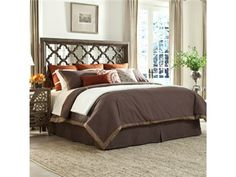 Shop for Ambella Home Salone Scuro Headboard - King, 27028-205-080, and other Bedroom Beds at Goods Home Furnishings in North Carolina Discount Furniture Stores Outlets.