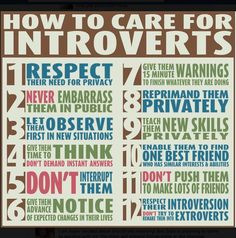 Care for your Introverts! :)