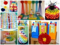 Rainbow Birthday Party Ideas | Photo 1 of 13 | Catch My Party