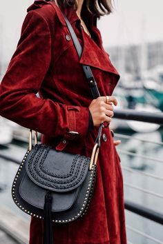 VivaLuxury - Fashion Blog by Annabelle Fleur: BURGUNDY SUEDE