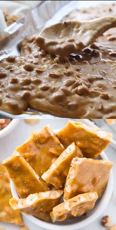Easy Microwave Peanut Brittle Recipe for Christmas or Thanksgiving! Simple Holiday Treat and Recipe for Candy Food Gifts or for your Co-Workers! This also makes the perfect Christmas Gift for your neighbors! So simple and you can make it in the microwave! Easy Candy Recipes, Sweet Recipes, Cool Recipes, Easy Christmas Candy Recipes, Healthy Recipes, Easy Microwave Peanut Brittle Recipe, Pecan Brittle Recipe Easy, Easy Microwave Desserts, Microwave Baking
