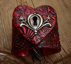 The key to my heart polymer clay cuff by adrianaallenllc on Etsy, $20.00