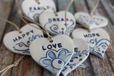 Blue decorations Love ornament Word decor Personalized Ornament Baby shower Heart Ornament Custom Word Baby Name ornament Ceramic ornamentOrnaments, Home ornament, Christmas ornaments, Christmas decorations Holiday decor, Wall decorationsEtsy :: Your plac Salt Dough Christmas Ornaments, Christmas Clay, Baby Ornaments, Heart Ornament, Homemade Ornaments, Homemade Christmas, Christmas Tree, Ceramic Jewelry, Ceramic Clay