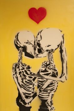 """skeleton kiss. """"All things change. Let this remain"""""""