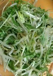めちゃウマッ☆水菜ともやしのゴマごまサラダ レシピ・作り方 by yuuuug|楽天レシピ