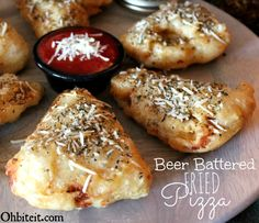 ~Beer Battered Fried Pizza!  Looks Delicious I can't wait to try it!!!