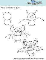 The Centered School Library: Draw a Bat Bookmark