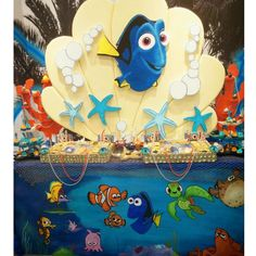Fantastic Finding Dory birthday party! See more party ideas at CatchMyParty.com!