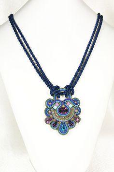 Ribbon Jewelry, Boho Jewelry, Beaded Jewelry, Jewelry Design, Jewellery, Soutache Pendant, Soutache Necklace, Soutache Tutorial, Mixed Media Jewelry