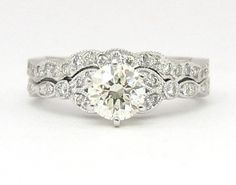 Round antique diamond engagement ring - My wedding ideas