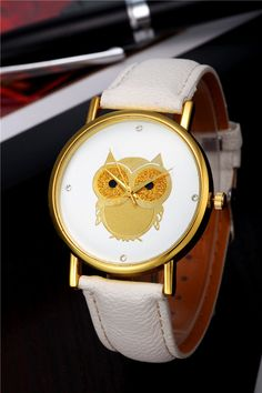 2015 New Vintage Design Owl Watch Fashion PU Leather Strap Geneva Watches Women Ladies Casual Quartz Wristwatches Whatch Relojes-in Women's Wristwatches from Watches on Aliexpress.com | Alibaba Group
