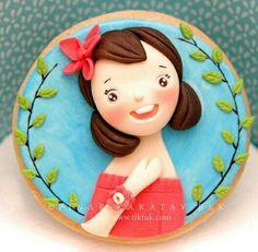 Little girl cookie