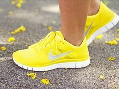 Yellow Nikes