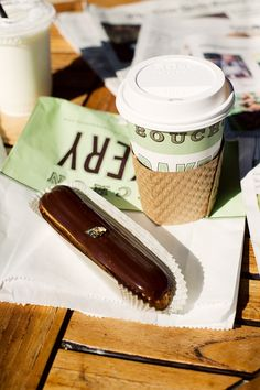 Eclair + coffee at Bouchon Bakery in Napa, CA. // part of my road trip in collaboration with @Hotels.com // photo by Bonnie Tsang  #lifeinstyle #greenwithenvy