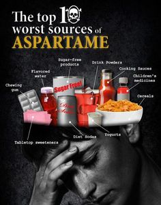 Aspartame is considered the most dangerous food additive on the market today. Aspartames main compounds are Aspartic Acid, Phenylalanine, and Methanol. These combine to kill neurons in the brain, poison the body and are linked to an enormous amounts of health effects. In any other scenario this substance would be considered poison and recommendation for non ingestion would be made on the bottle. But because this poisonous substance has been approved by food and drug associations, its legal.