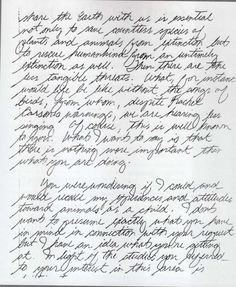 Ted Bundy handwriting