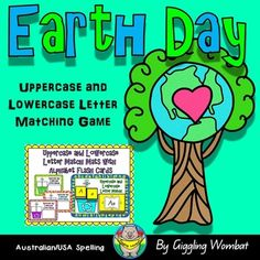 **+Please+note+that+this+product+is+included+in+my+Earth+Day+Math+and+Literacy+ActivitiesEarth+Day+Uppercase+and+Lowercase+Letter+Matching+Game.+These+cards+are+designed+to+help+your+child+practice+matching+uppercase+letters+to+lowercase+letters.+There+are+4+colourful+mats+to+make+matching+fun.