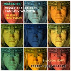 MODERN LIFE VISAGE COLLECTION WARRIOR HEAD SCULPT (ROOTED VERSION) FOR 1/6 SCALE ACTION FIGURE