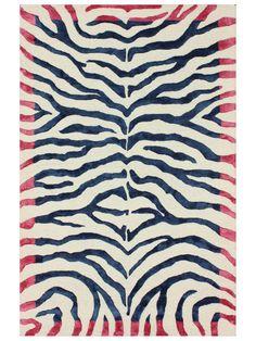 Zebra Print Hand-Tufted Rug by nuLOOM at Gilt