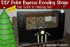 Come find out how to make your own DIY Polar Express Reading Stage. Your ticket to reading fun! Polar Express Activities, Polar Express Party, Book Activities, Preschool Activities, Santa Crafts, Reindeer Craft, All Things Christmas, Kids Christmas, Dramatic Play Themes