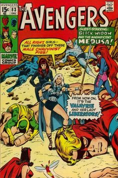 Avengers#83(1970)by John Buscema & Tom Palmer. Introducing the Lady Liberators.