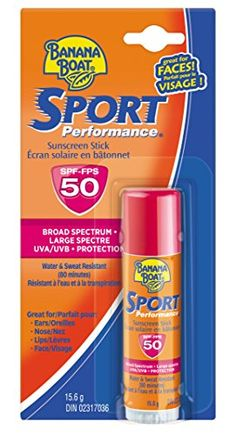 Banana Boat Sunscreen Sport Performance Broad Spectrum Sun Care Sunscreen Stick  SPF 50 055 Ounce *** Continue to the product at the image link. (Note:Amazon affiliate link)