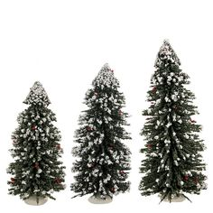 BYERS CHOICE Christmas Tree with Snow 16 inches tall