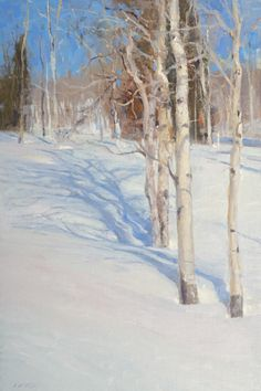 Beautiful Winter scene painting by CO artist John Taft