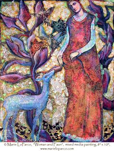 Woman with Fawn, by Marie LoParco