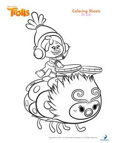 Dj Suki Trolls Coloring Pages Printable And Book To Print For Free Find More Online Kids Adults Of