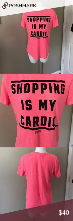 PINK VS Hot Pink Top Hot pink color, soft and comfy!  PINK Victoria's Secret Tops Tees - Short Sleeve