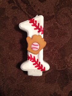 Baseball Birthday Candle by TheCraftyPair on Etsy, $9.00