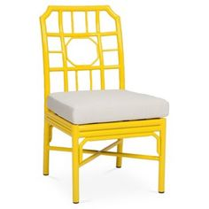 Check out this item at One Kings Lane! Milton 4-Season Side Chair, Yellow