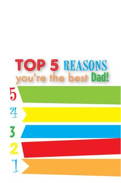 What are your top 5 Reasons that Dad is the best?! Pixingo