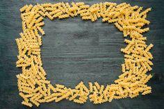 macaroni frame on a dark wooden table