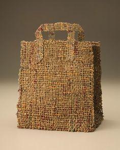 James Bassler | twisted brown paper + yarn