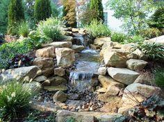Cool Bachlauf im Garten anlegen Gestaltungsidee