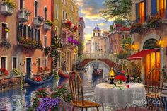 """Venice Al Fresco"" Artist: Dominic Davison"