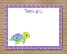 Sea Turtle Thank You Cards / Note Cards / by PaperHouseDesigns