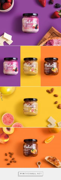 Melatta: Not Your Average Jam — The Dieline Jam Packaging, Bottle Packaging, Brand Packaging, Burger Branding, Food Branding, Jar Design, Label Design, Jam Jar Labels, Packaging Design Inspiration