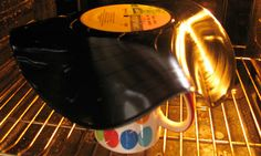 How to turn a record into a bowl  Not sure what to do with your old Barry Manilow record? Cat Davison shows you how to transform unwanted vinyl into something quirky yet useful