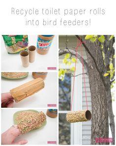 Craftaholics Anonymous® | Toilet Paper Roll Bird Feeder