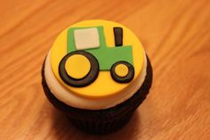 Tractor Cupcake on Cake Central