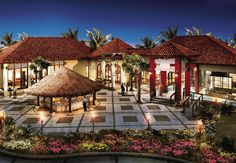 Courtyard and restaurants #sandals #barbados #caribbean #honeymoon #romance