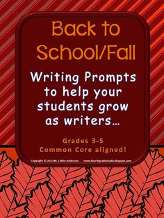 I love using demand prompts to measure student progress!  The method is simple: Each prompt is graded using the exact same checklist at the top--just like my other demand sets! Unlike the other sets which are organized by genre, this set is seasonal in nature! This edition focuses on fall and back to school prompts. Each seasonal set contains 6 different prompts complete with checklist, class recording sheet, individual student recording sheet, and directions and suggestions for use.